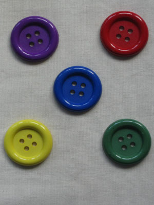 Big Ole Primary Colour-me button pack