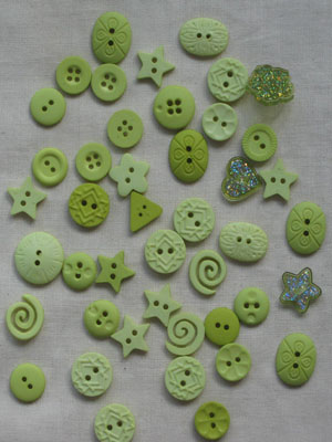 Lime Colour-me button pack