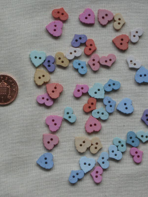 Ice Cream Soda Hearts button pack
