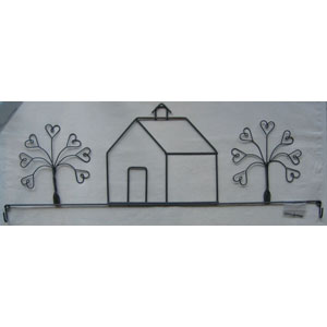 School House and Trees 22 inch wire hanger
