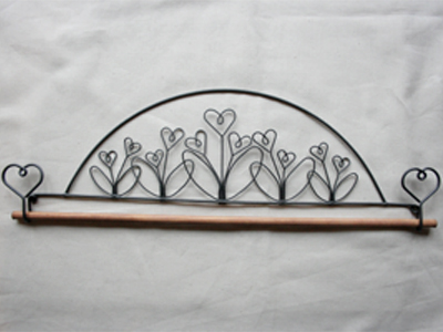 12 inch Flower Garden Wire Hanger with 0.25 inch dowel