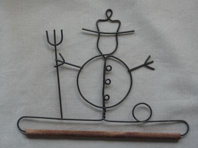 6 inch Snowman 1/4 inch Dowel Wire Hanger
