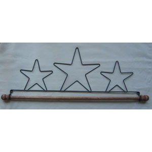 16 inch Star wire hanger with 1/4 inch dowel
