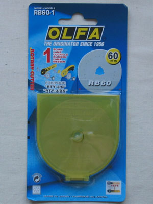 Olfa Rotary Cutter Replacement Blade 60mm