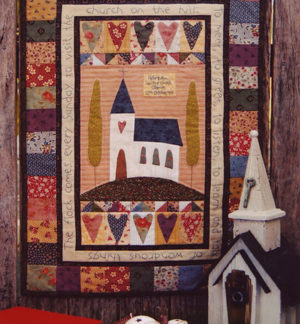 Church on the Hill Wall Hanging Pattern