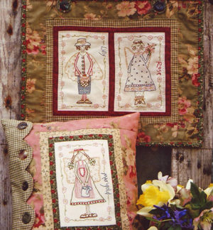 Garden of Angels Stitchery Pattern