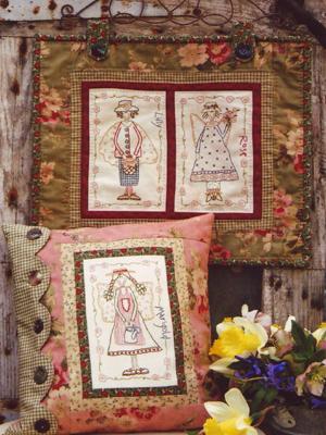 Garden of Angels Stitchery Pattern