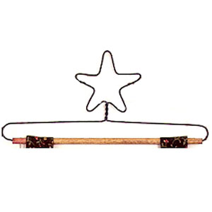 12 inch Star Wire Hanger with 1/4 inch Dowel