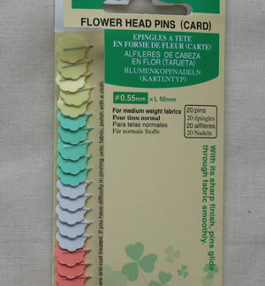 Clover Flower Heads Pins (card)
