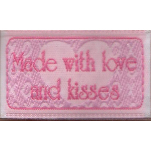 Made with love and kisses - Iron-on Love Label