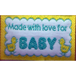 Made with love for BABY - Iron-on Love Label