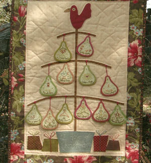 Twelve Days of Christmas Wallhanging Pattern