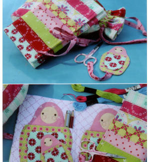 Sweet Matryoshka Sewing Set Pattern