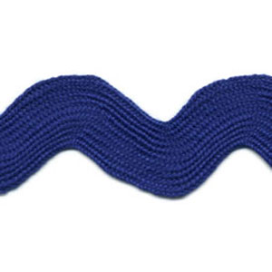 Royal Blue - Ric Rac - Super Jumbo 4cm Wide