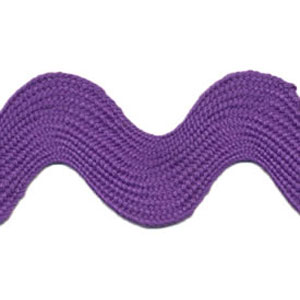 Purple - Ric Rac - Super Jumbo 4cm Wide