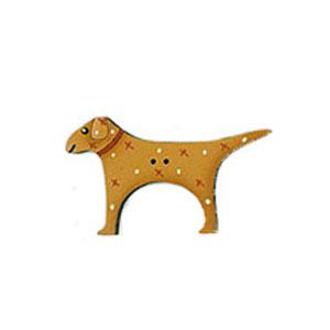 Hugo wooden dog button