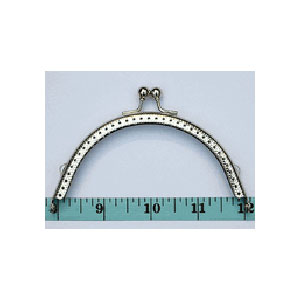 "Metal Purse Frame - Nickel 4"" x 2 1/8"""