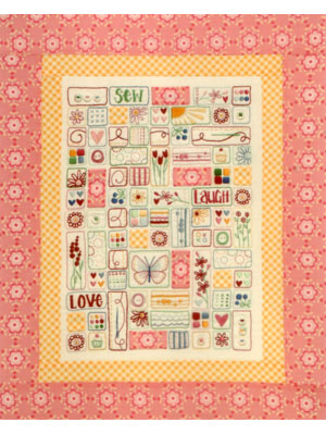 Sew Laugh Love Stitchery Pattern