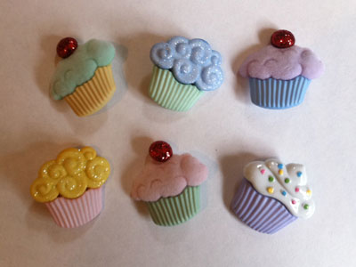 Sweet Treats cupcake buttons