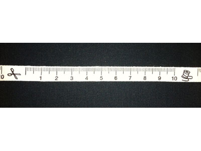 Cream Tape Measure Ribbon with Bobbins & Scissors