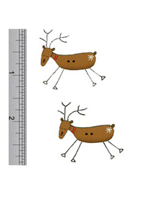 Cheeky Reindeer Wooden Buttons