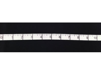 "Cotton Twill Tape Measure Tape Inches - White 5/8"" Wide"