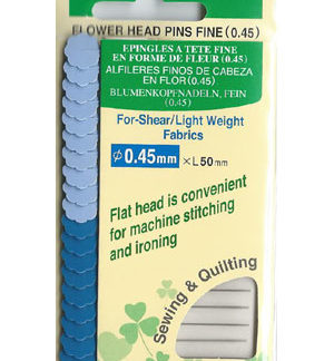 Clover Flower Head Pins (card) - Fine