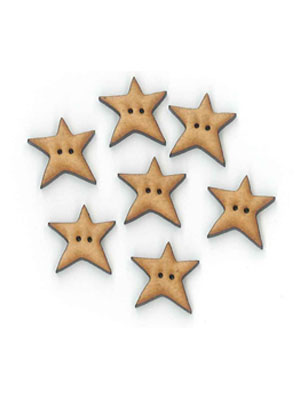 Wonky Star Wooden Buttons