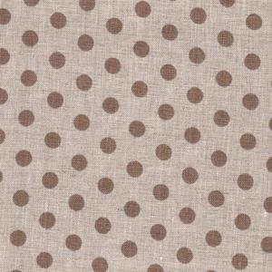 Beige Polka Dots on Natural Linen