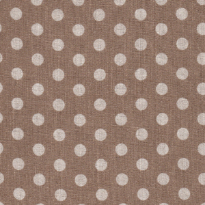 Natural Polka Dots on Beige Linen