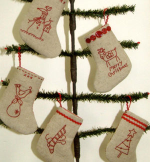 Mini Merry Stockings pattern
