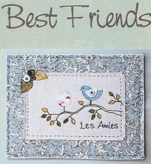 Best Friends Wall Hanging or Cushion