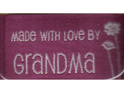 Made with Love by Grandma - iron on lovelabel