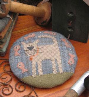 My Cat Claude Pincushion pattern