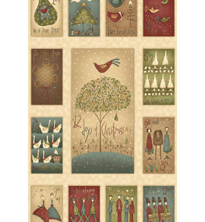 Christmas Advent Calendars, Panels & Fabric Kits