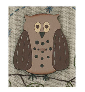 Mr Owl Button