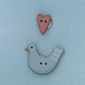 Heart & Bird buttons
