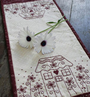Daisy Cottage stitchery pattern