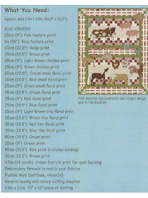 Farmyard Fun Quilt pattern