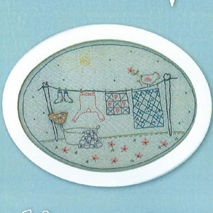 Mama's Wash Day Stitchery pattern