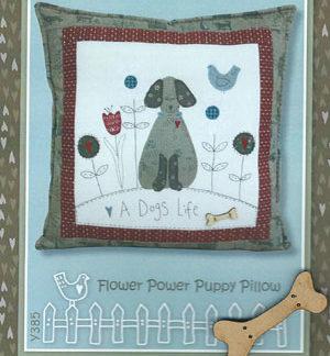 Flower Power Puppy Pillow pattern - inc button