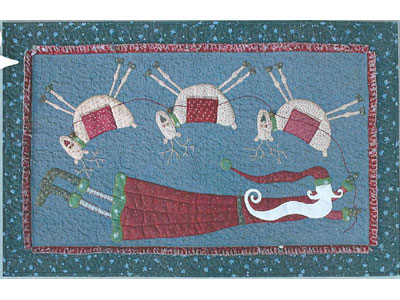 Flying Santa Tablerunner pattern