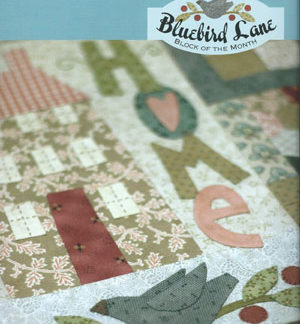 Bluebird Lane Block of the Month pattern
