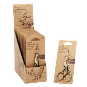 Embroidery Stork Scissors: 4.5 inch