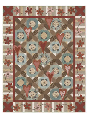 Scattered Hearts Quilt pattern