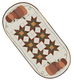 Spiced Pumpkin Tablerunner pattern