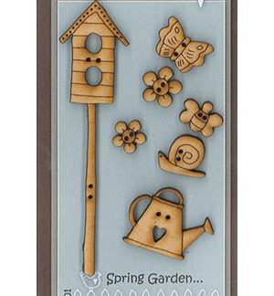 Spring Garden wooden button set