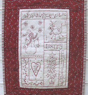 Love Christmas stitchery pattern