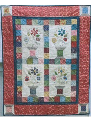 Flowering Spools quilt pattern