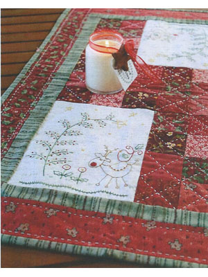 In the Christmas Woods stitchery pattern